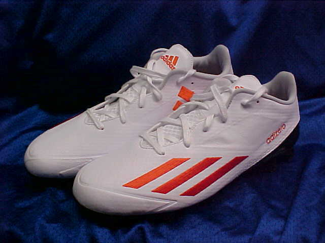 Adidas Adizero 5 Star Low Molded Football Cleats White orange B39104 Size 10