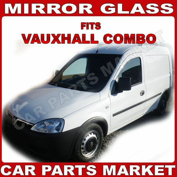 NEW Wing Mirror Glass VAUXHALL COMBO Driver side 01-/>