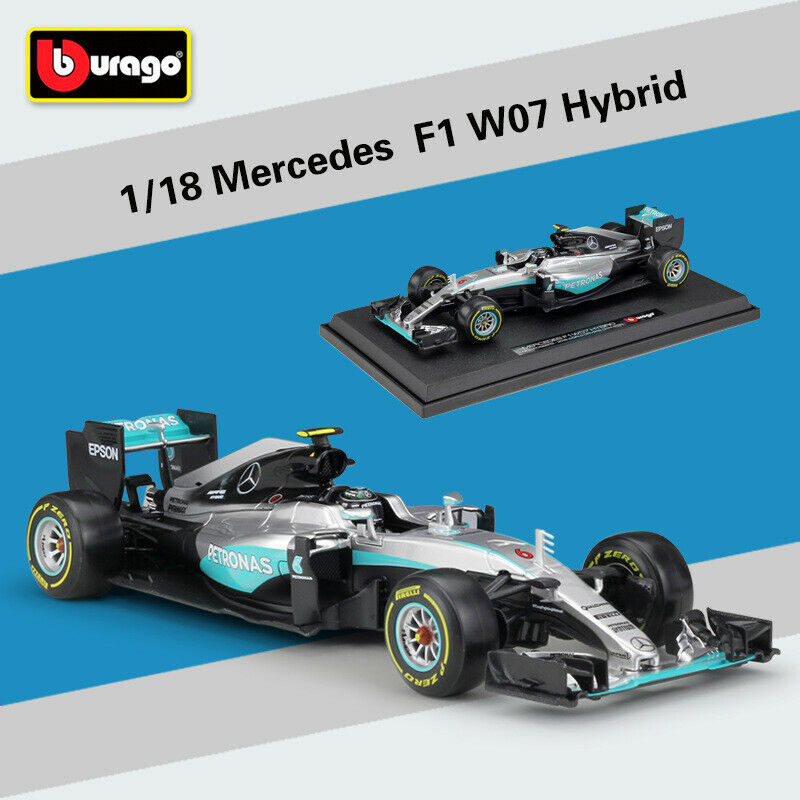 2016 escala 1 18 Mercedes F1 W07 híbrido 6  Nico Rosberg Racing Juguete Diecast Modelo