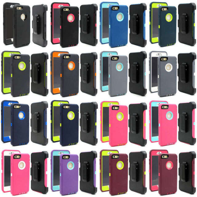 For iPhone 6 Plus & iPhone 6S Plus Case Cover w/(Clip fits Otterbox Defender)