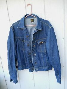 VINTAGE-LEE-039-S-60-039-S-2-POCKET-BLUE-DENIM-JACKET-SIZE-LARGE-44-UNION-MADE-IN-USA