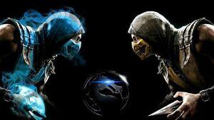 Poster Mortal Kombat X 10 Scorpion Sub Zero Subzero Game Games Ps4