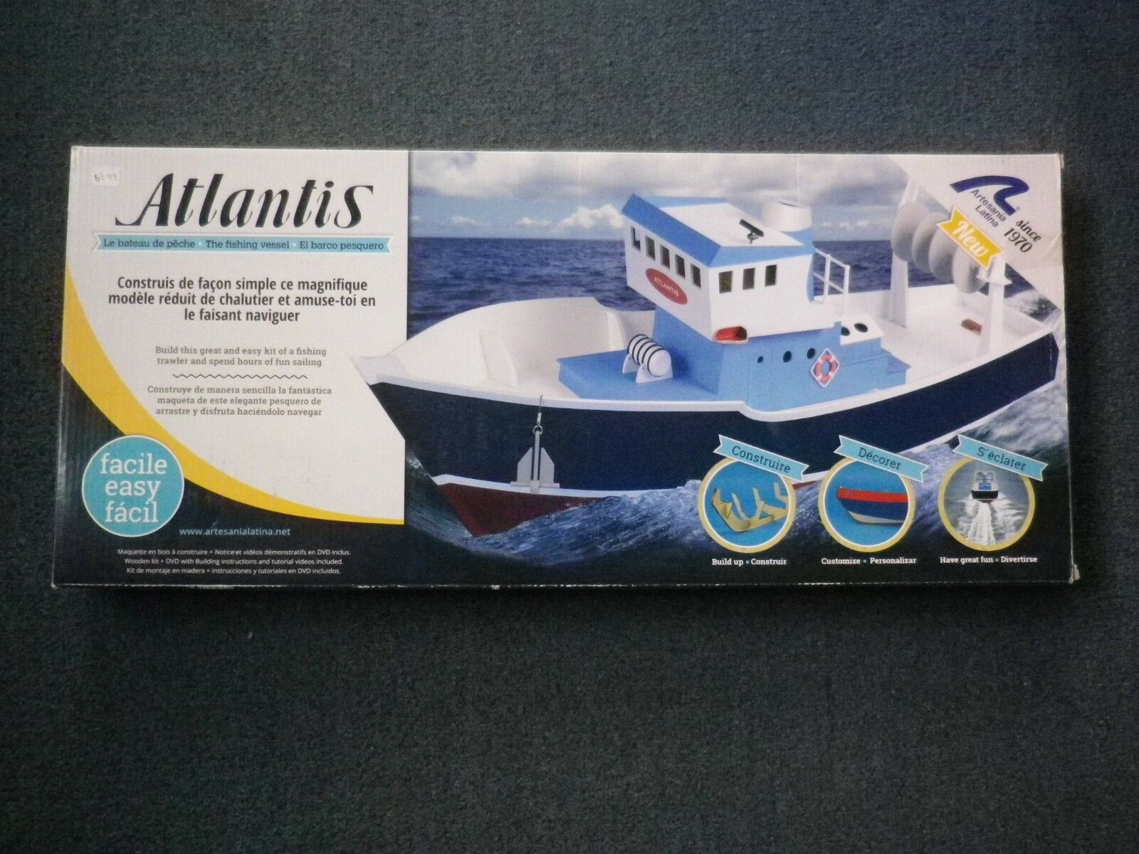 ARTESANIA LATINA ATLANTIS FISHING TRAWLER CNC KIT