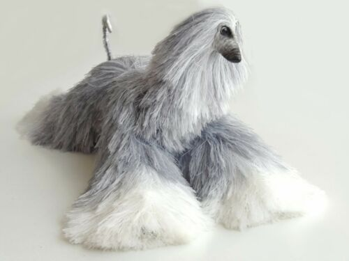 Collectibles Animals Light Gray White Afghan Hound Cute Plush Toy Stuffed Animal
