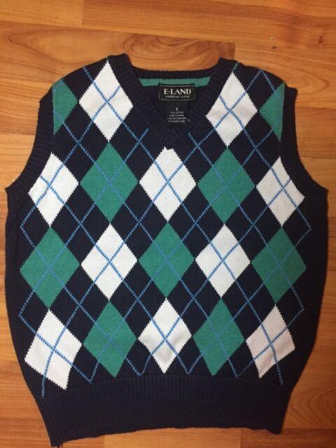36a1b3d5b E-land Boys Sz. 6 Doamond Sweater Vest Holidays | eBay