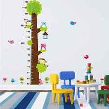 Monkey Tree Owl Children/Baby Height Chart Living room Wall Sticker Decals UK