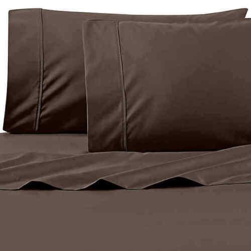 Wamsutta 625-Thread Count PimaCott Full Sheet Set in Chocolate