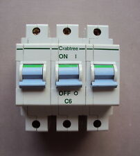 40A BS EN 60898 6FS06B 6FS40B. Type B 6A CRABTREE MCBs