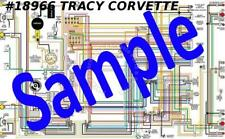 "1969 69 Corvette Full Color Laminated Wiring Diagram 11/"" X 17/"""