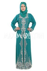 DUBAI-KAFTAN-CUT-WORK-HAND-EMBROIDERY-JILBAB-ARABIAN-ISLAMIC-DRESS-5527