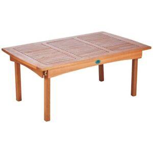 Détails sur Table de Jardin Salon Table Table en Bois Eucalyptus 47cm Haut