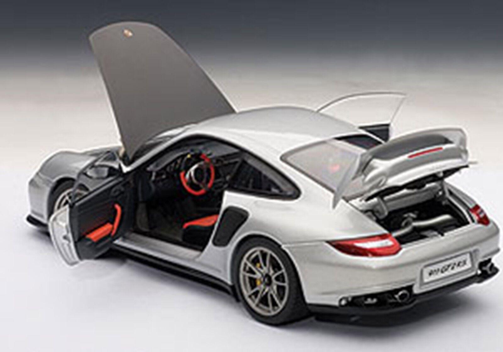 Autoart Porsche 911 997 GT2 Rs Plata 1 18 Escala Nueva Versión  en Stock