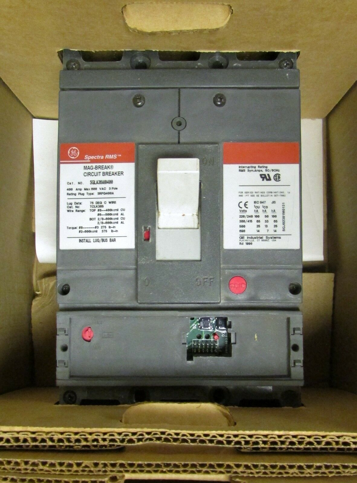 Ge Spectra Rms Mag Break Circuit Breaker 400 Amp 600 Vac 3 Pole Arc Fault Interrupter Afci Industrial Solutions Norton Secured Powered By Verisign