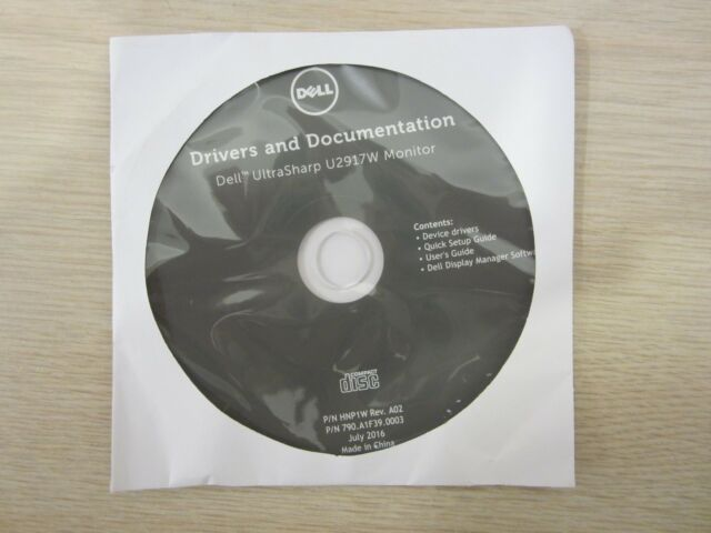 DELL U2917W 29'' LCD MONITOR GUIDE/STARTING CD/DRIVERS, FREE S&H