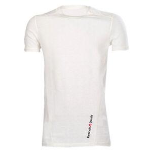 bd5fbbe9b Image is loading Mens-White-Reebok-CrossFit-Triblend-Short-Sleeve-Tee-