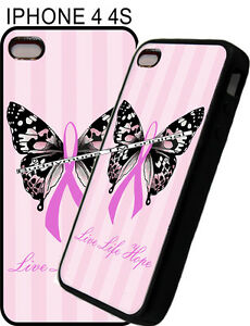 For-Apple-IPhone-4s-5s-6-7-Pink-Womens-Breast-Cancer-Ribbon-Phone-Case-Cover-12