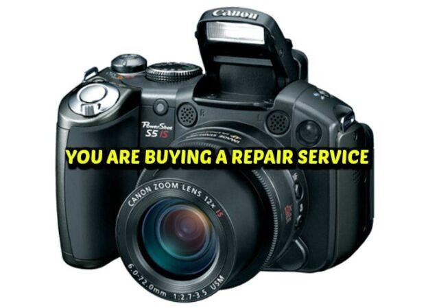 Canon PowerShot S5 8 0 MP Digital Camera - Black (Kit with 36-432mm  f/2 7-3 5 Lens)