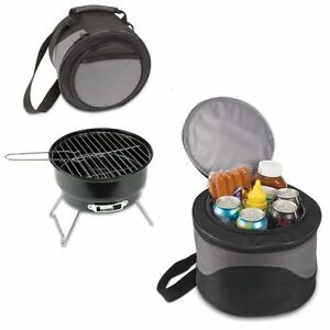 PORTABLE-CHARCOAL-BBQ-GRILL-AND-COOLER-COMBO-W-CARRY-TOTE-PICNIC-TIME-CALIENTE