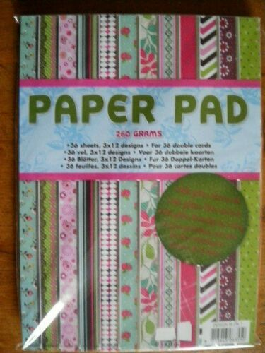 Choice of Design Beautiful A5 Paper Pad 260 gsm 36 Pages 3 x 12 Designs C18