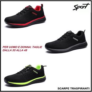 Nuove-Scarpe-Da-Ginnastica-Per-Uomo-Donna-Traspiranti-Tennis-Sport-Corsa-Running