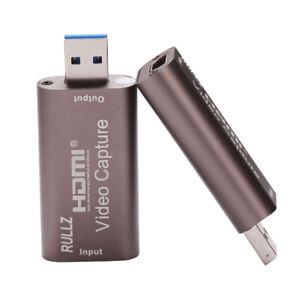 HDMI vers USB 3.0 Carte de Capture Vidéo 1080P enregistreur pour Webcam Live Streaming Game