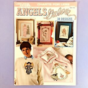 Angels-Galore-cross-stitch-pattern-book-38-angel-designs-Leisure-Arts-2960-vtg