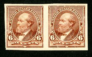 US-Stamps-224p5-VF-OG-H-Pair-Scott-Value-225-00