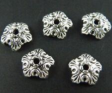 140pcs Tibetan Silver Pretty Flower Bead Caps 10x3mm 1489