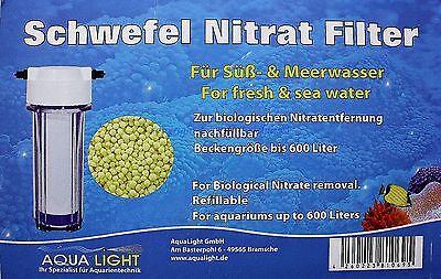 Pet Supplies Fish & Aquariums Earnest Aqua Leggero Zolfo Nitrato Filtro Per Dolce E Acqua Marina Fino 600l