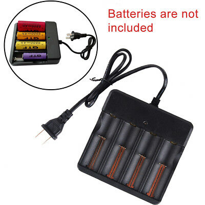 Universal Smart Battery Charger for 3.7V Li-ion 18650 16340 14500 US Plug 2-Pack