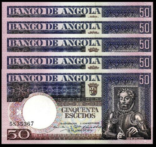 Angola 100 Escudos 1972 P 101 Marechal Carmona UNC Consecutive Numbers Available