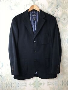 Brooks-Brothers-Blue-Cotton-Career-Everyday-Casual-Soft-Cotton-Blazer-Jacket-M