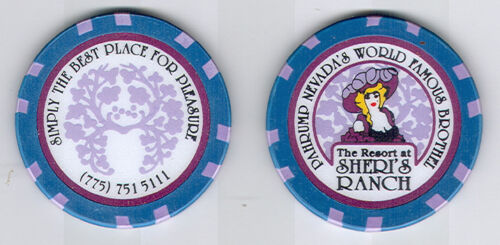 SHERI'S RANCH collectible Brothel chip, Pahrump, NV LEGAL CAT HOUSE