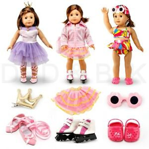 Fits-American-Girl-18-034-Sports-Outfit-18-Inch-Doll-Clothes-Costume