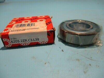 FACTORY NEW FAG 6205-2ZRC3 Deep Groove Ball Bearing 25x52x15mm Shielded 2-PACK