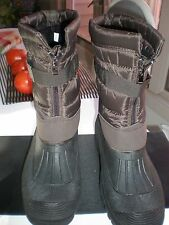 MEN FLEXTEC  Front Zipper Snow Boots RAIN  GARDEN BOOTS 100 % WATERPROOF SZ 10.5