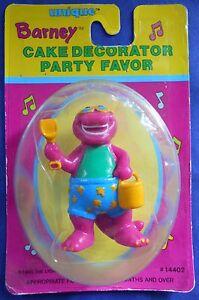 1993 Barney Cake Topper Decorator Party Favor Beach Fun Figure 14402 Unique