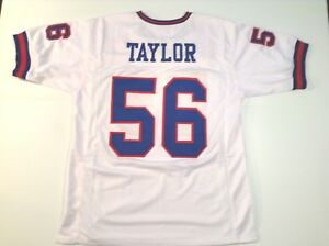 UNSIGNED-CUSTOM-Sewn-Stitched-Lawrence-Taylor-White-Jersey-M-L-XL-2XL