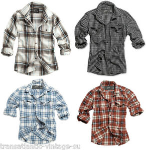 SURPLUS-CLASSIC-WOODCUTTER-CHECK-MENS-LONG-SLEEVE-SHIRT-100-COTTON-RETRO-STYLE