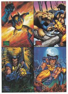 1995-Marvel-Masterpieces-Promo-4-Card-Uncut-Sheet-Wolverine