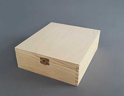 Wooden Tea Bag Box Chest 2 Compartments Box Removable Dividers Clasp Case