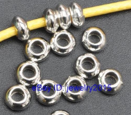 100pcs 200pcs  tibetan silver charm loose spacer beads bead  5.5x2.5mm G3426