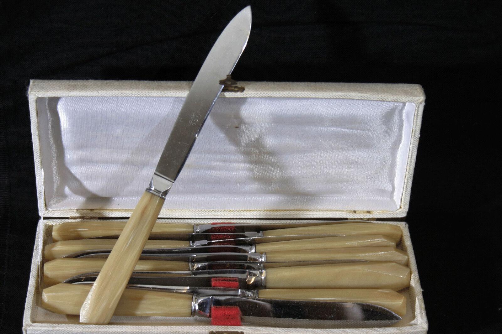 Service de 12 couteaux Art Déco, bakéite     set of 12 knives, bakélite, Art Deco 574b05