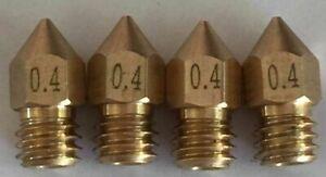 UGELLO PER STAMPANTE 3D 0.4mm - d403 CTC, Anet A8, 1.75mm - Confezione di quattro