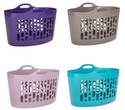 Large Laundry Basket Bin Hamper Flexible Storage Plastic