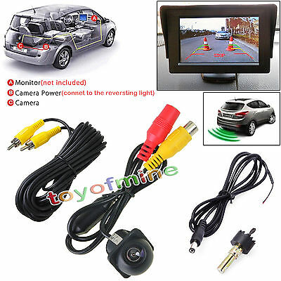 170° Deg Wide Angle Waterproof Car Rear Reverse Backup Parking View CMOS Camera