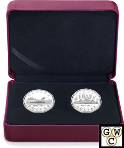 2017Silver 2Coin Set of  30th Ann of the Loonie/' Prf $1 Silver .9999Fine 18140