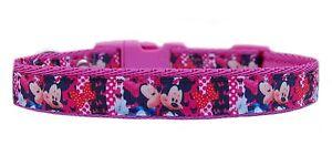 Rosa-Mickey-amp-Minnie-Collar-Para-Perro-Grande-Mediano-o-amp-Conjunto-De-Correa