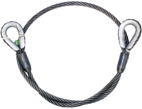 """CHOKER WINCH CABLE EXTENSION 1//2/"""" x 20/' IWRC Steel Core WIRE ROPE SLING"""