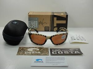 ade09c5e05 COSTA DEL MAR POLARIZED SUNGLASSES FISCH FS65 OCP MOSSY CAMO COPPER ...
